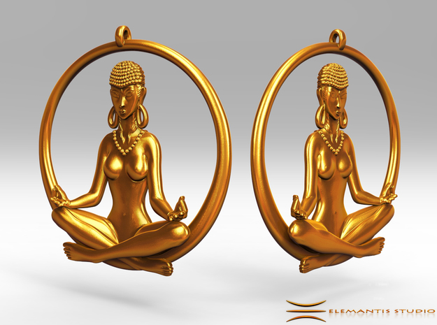 Sukhasana Yogini Earrings 4.5cm
