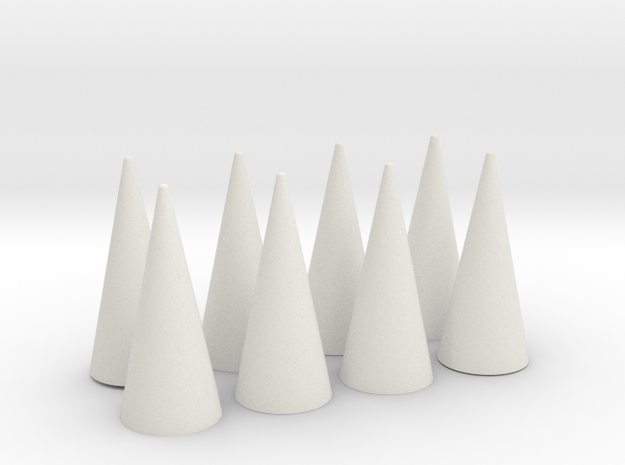 Spikes Only - Flat Bases (for any cuff band) in White Strong & Flexible