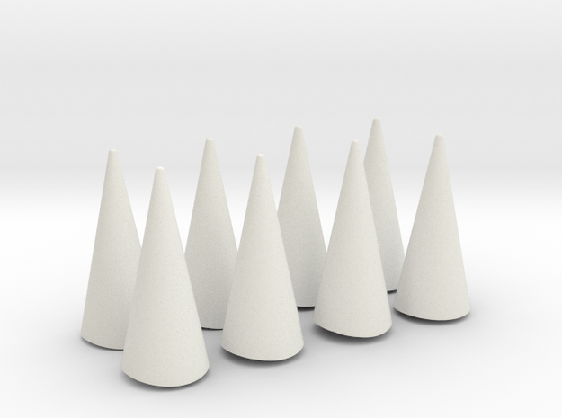 Spikes - Angled (to fit original cuff) in White Natural Versatile Plastic