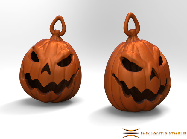 Jack O'lantern Earrings 2.5cm in Orange Processed Versatile Plastic
