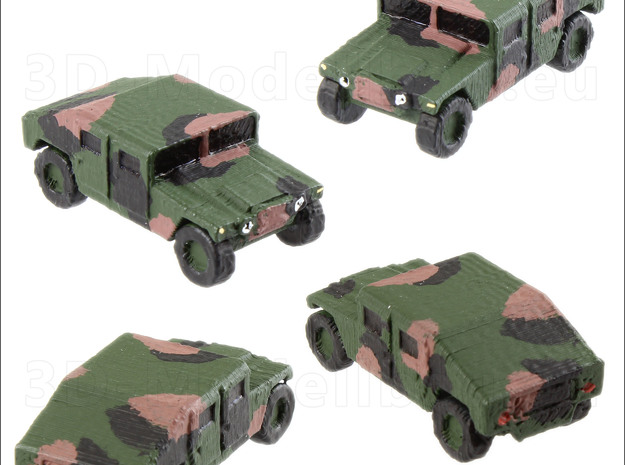 1/160 US Army 16 of M1025 Humvee HMMWV Hummer in White Strong & Flexible