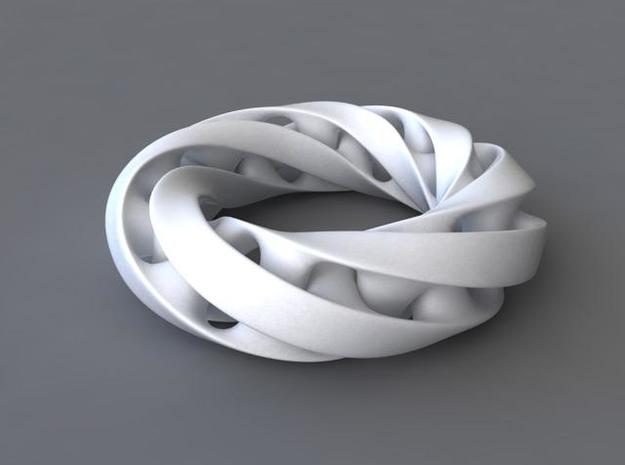 Moebius ring in White Natural Versatile Plastic