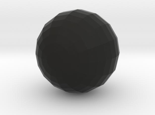 Sphere in Black Natural Versatile Plastic