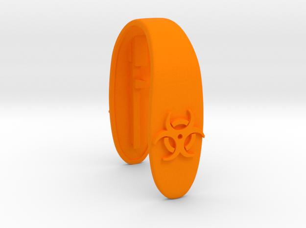 HAZARD key fob  in Orange Processed Versatile Plastic