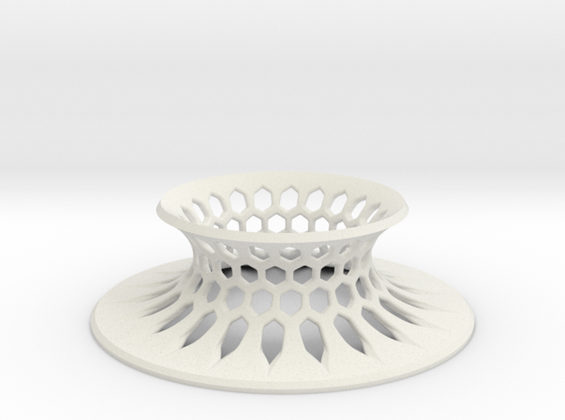 """The Universe Sphere Base """"Grid"""" in White Natural Versatile Plastic"""