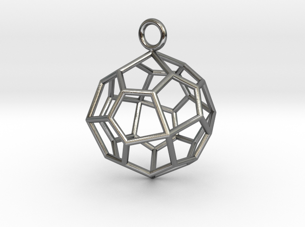 Pendant_Pentagonal-Icositetrahedron in Polished Silver