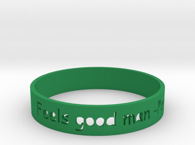 Feels good man Bracelet in Green Strong & Flexible Polished