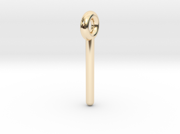 Minimalist Rod Pendant in 14k Gold Plated Brass