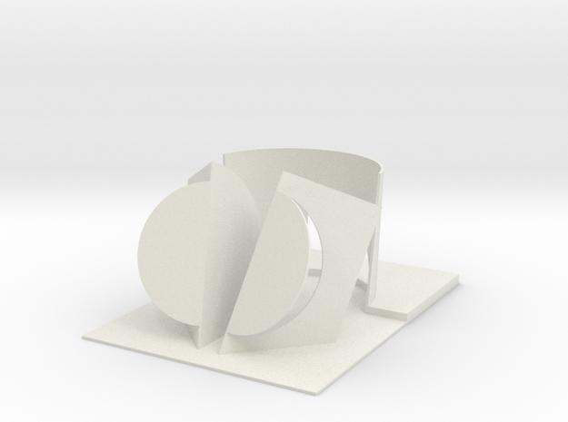 "BK-05: ""City of the Sun Pt. 2"" by Afaina de Jong in White Natural Versatile Plastic"
