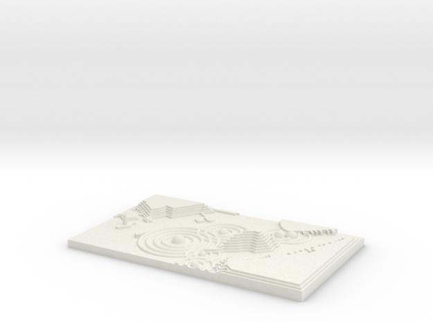 "BK-06: ""Wave Crossings"" by Liz Phillips in White Natural Versatile Plastic"