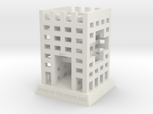 "BK-08: ""The HoTH: House of the Homeless..."" by ZUS in White Natural Versatile Plastic"