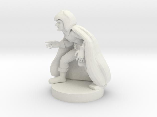 Gnome Caster in White Natural Versatile Plastic