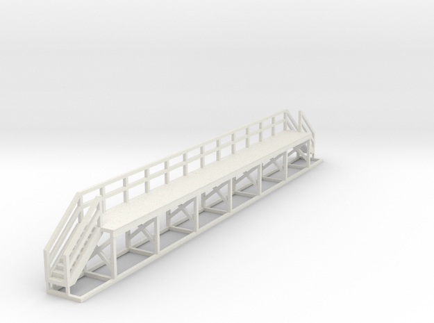 N Scale Train Maintenance Platform DOUBLE STAIRS in White Natural Versatile Plastic