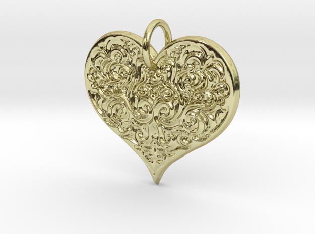 Filigree Engraved Heart pendant