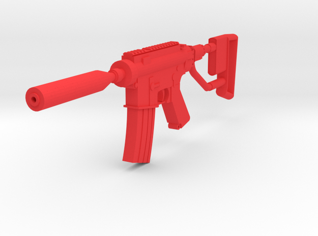 Quickshot M4 CQB Rifle in Red Processed Versatile Plastic