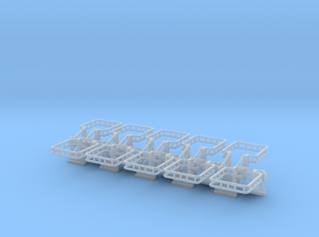 N Scale Tank Car Loading Bridge 10x Medium in Smooth Fine Detail Plastic