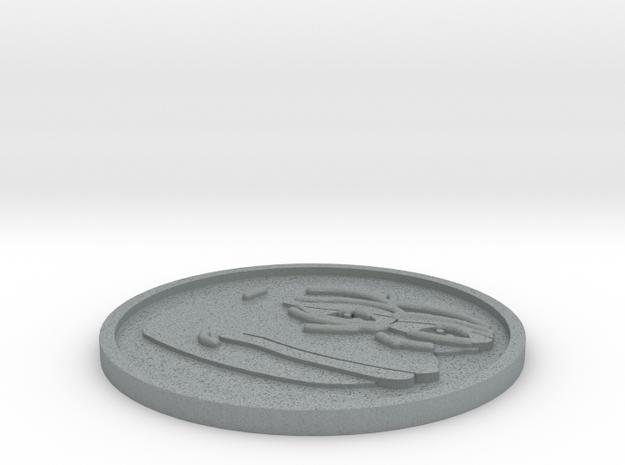 PepeCoin in Polished Metallic Plastic