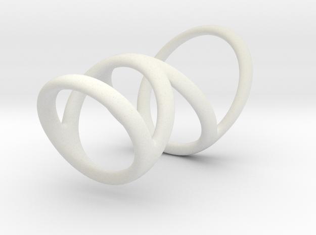 Ring splint for Kristen D1 13-9 D2 16-5 D3 20-32 L in White Natural Versatile Plastic