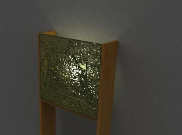 Wall Lamp 3d printed Render, from an angle