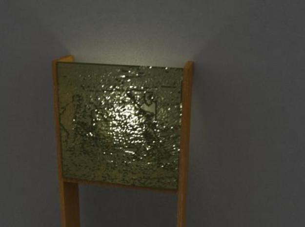 Wall Lamp 3d printed Render Straight on