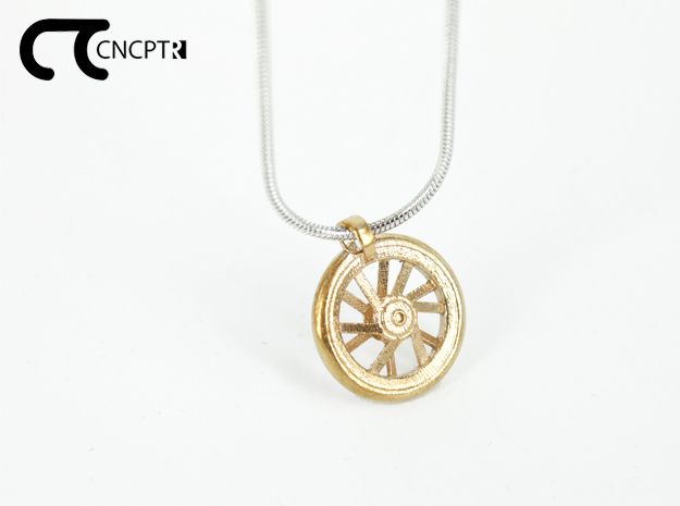 Concept R Carbon Wheel Pendant in Natural Bronze