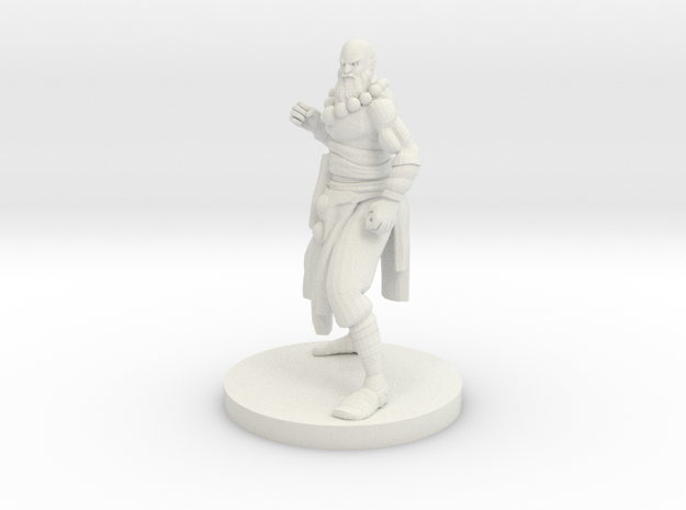 Human Monk Master in White Natural Versatile Plastic