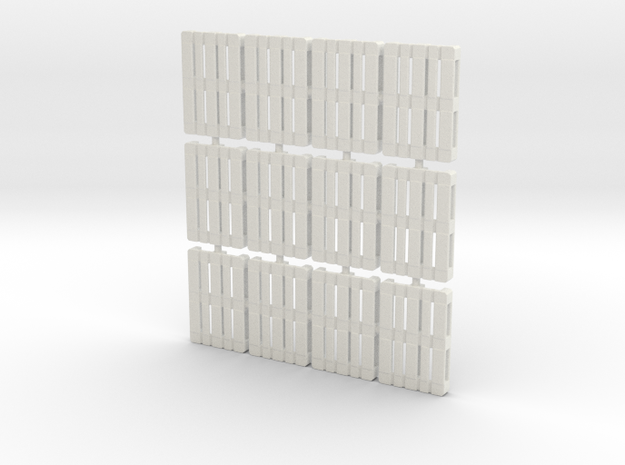 1/56th scale pallet pack (12 pieces) in White Strong & Flexible