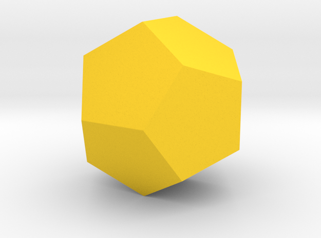 4 Dodecahedron (twelve faces). in Yellow Strong & Flexible Polished