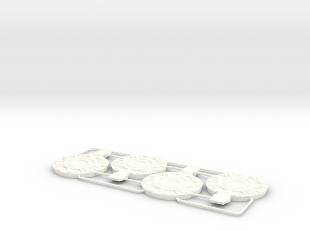 Basic AT-ACT Foot Plates in White Strong & Flexible Polished