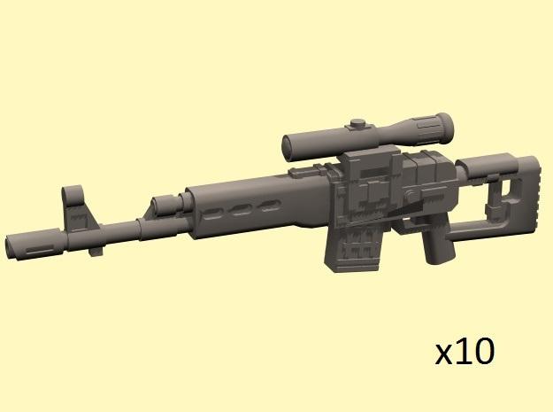 28mm SVD style sniper laser rifles in Smoothest Fine Detail Plastic