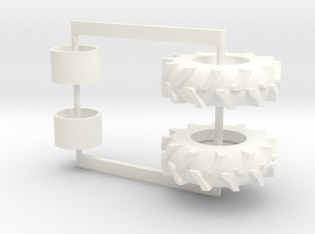 16.9-24 drive /rwa/fwa tires in White Processed Versatile Plastic
