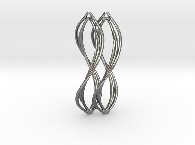 LC 38 Twist - Pair in Polished Silver