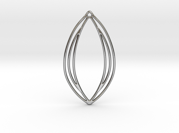 Flower 38 in Polished Silver