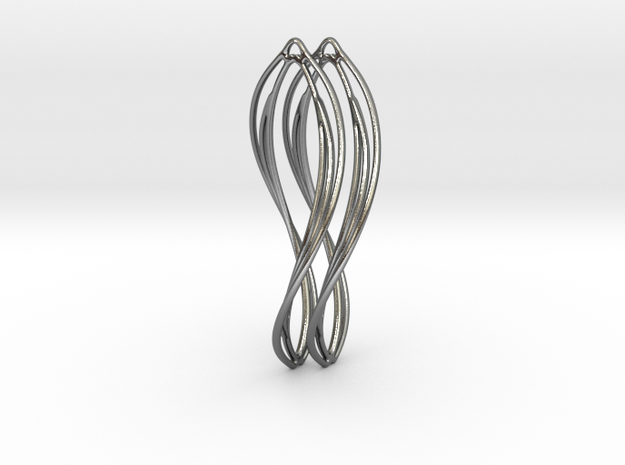 Flower 50 Twist - Pair in Polished Silver