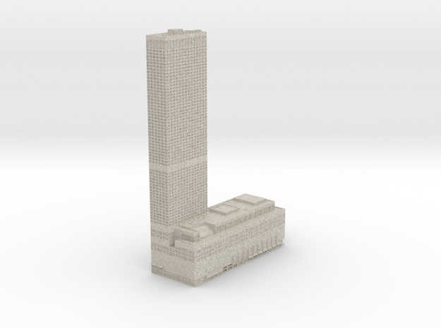 Water Tower Place (1:1200 scale) in Sandstone