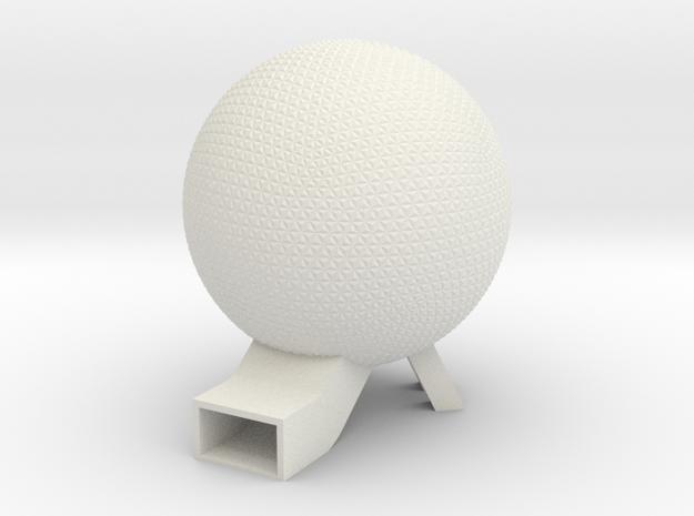 EPCOT Spaceship Earth Model 6in in White Natural Versatile Plastic