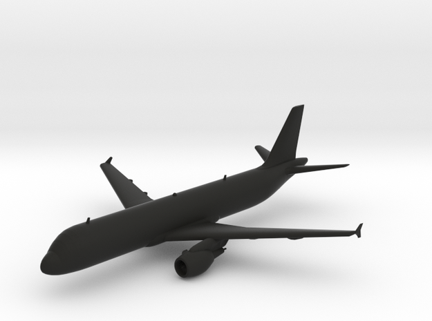 Airbus A320 in Black Natural Versatile Plastic