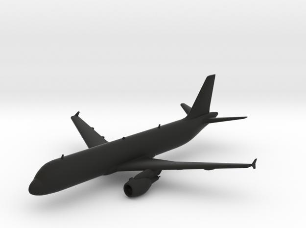 Airbus A320 in Black Natural Versatile Plastic
