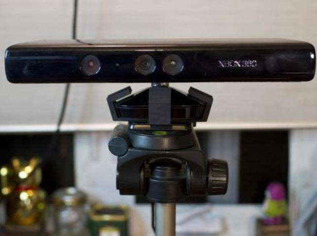 Kinect Tripod Mount 3d printed front view