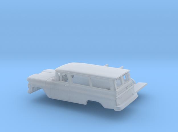 1/87 1960-61 Chevrolet Suburban Split Doors Kit in Smooth Fine Detail Plastic