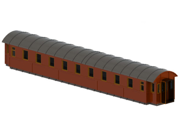 Co4b version 2 - Swedish passenger wagon in Frosted Ultra Detail