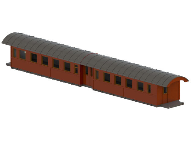 Co13 - Swedish passenger wagon in Frosted Ultra Detail