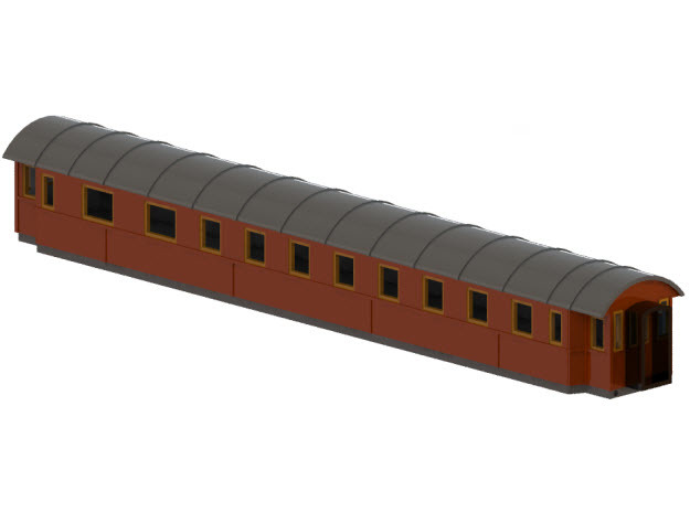BCo11b - Swedish passenger wagon in Frosted Ultra Detail
