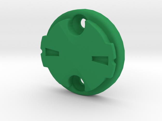 Garmin Varia Plate 0deg in Green Strong & Flexible Polished