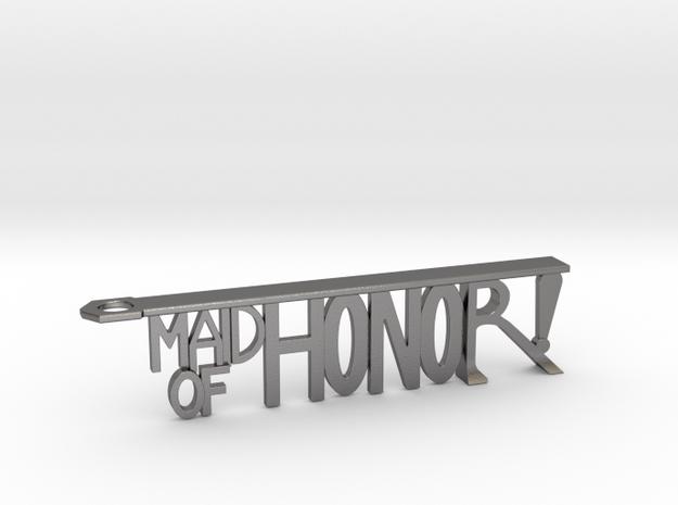 Maid Of Honor Bottle Opener Keychain in Polished Nickel Steel