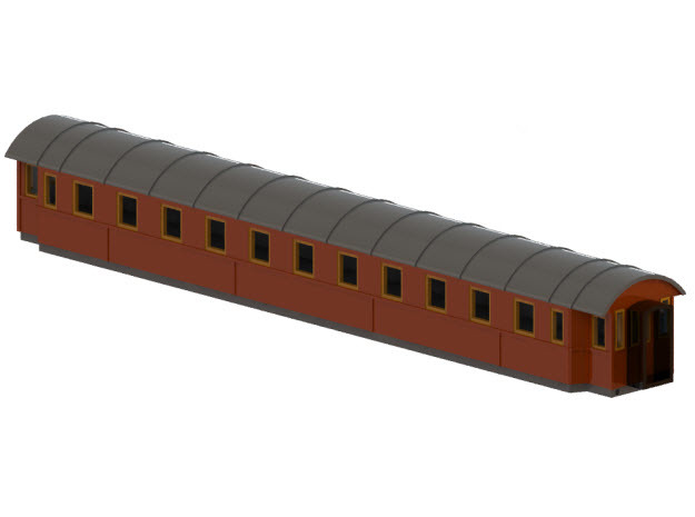 Co8c - Swedish passenger wagon in Smooth Fine Detail Plastic