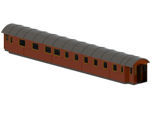 BCo7b - Swedish passenger wagon in Frosted Ultra Detail
