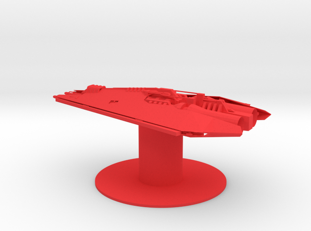 Narn - ThNor Cruiser (3.28 x / 1.92 y / 1.394 z) in Red Processed Versatile Plastic