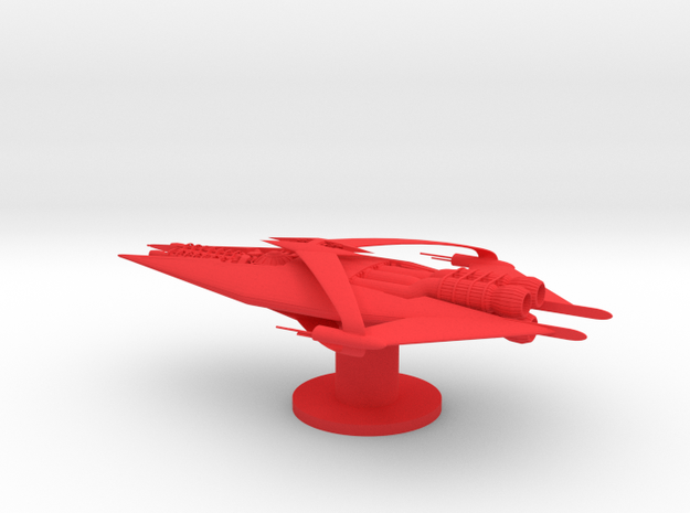 Narn - GQuan Cruiser (5 x / 2.844 y / 1.556 z) in Red Processed Versatile Plastic