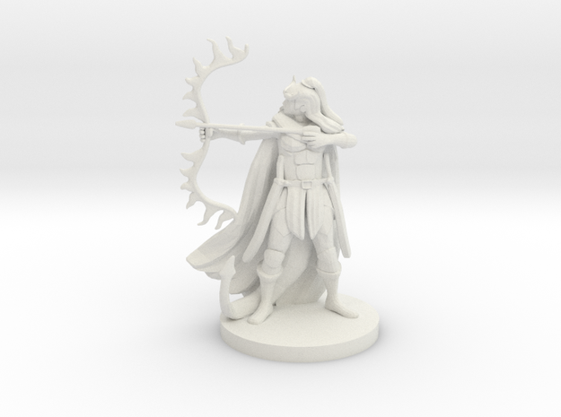 Tiefling  Female  Ranger in White Natural Versatile Plastic